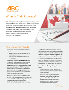What is civic literacy?