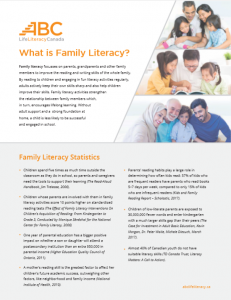 What is Family Literacy?