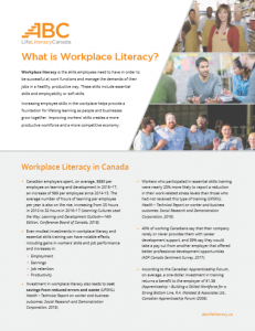 What is Workplace Literacy?